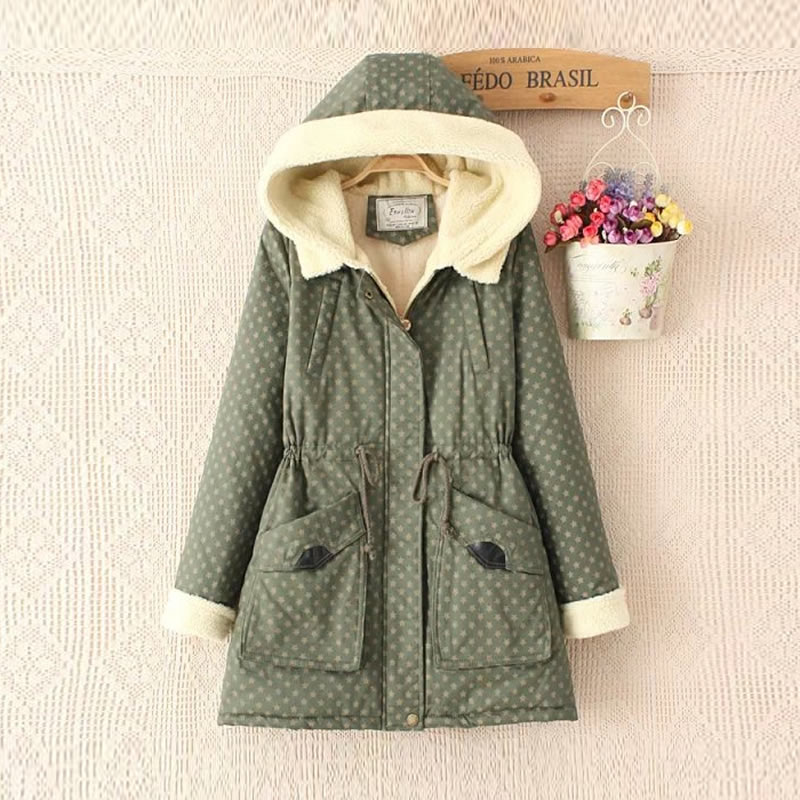 Women's clothing Winter Women Coat Warm Hooded Cotton Jacket Coat Medium Long Thick Parkas Super Warm Winter Coat