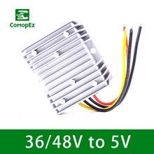 купить Voltage Converter Regulator DC/DC 36-48V Step Down to 5V 10A15A 20A Waterproof Voltage Reducer for Golf Cart Power Module дешево