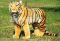 huge Plush tiger toy high artificial simulation tiger doll large tiger about 110x72cm
