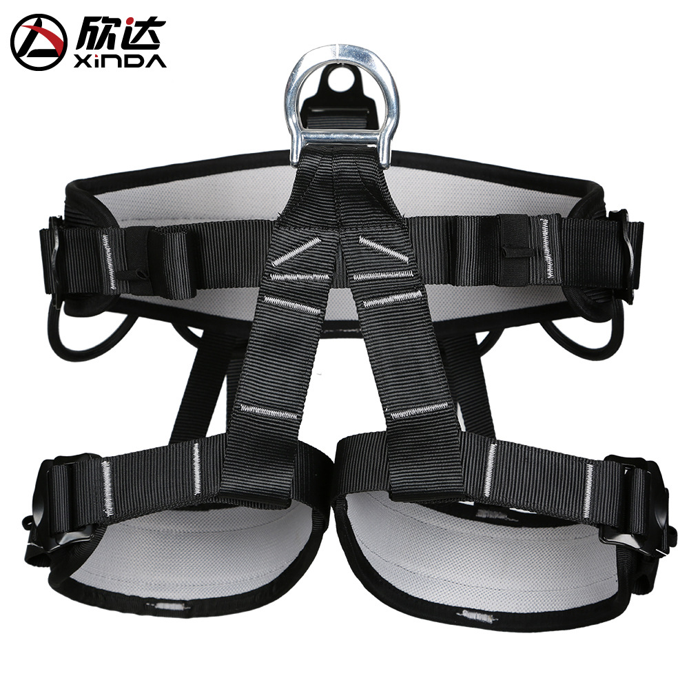 XINDA brand waist protection Harness Bust Seat Belt Outdoor Rescue Rock Climbing Rappelling Equipment Seat Belt accessories in Climbing Accessories from Sports Entertainment