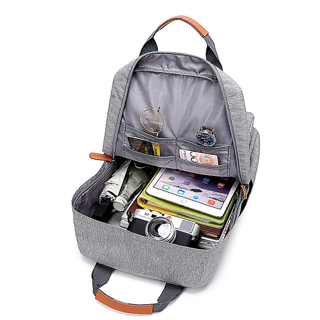 Casual Business Men Computer Backpack Light 15.6-inch Laptop Bag 2020 Lady Anti-theft Travel Backpack Gray 6