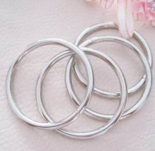10pcs/lot Bags hardware accessories 5cm 4.5mm thickness  silver diy handmade bag buckle ring garment trimmings