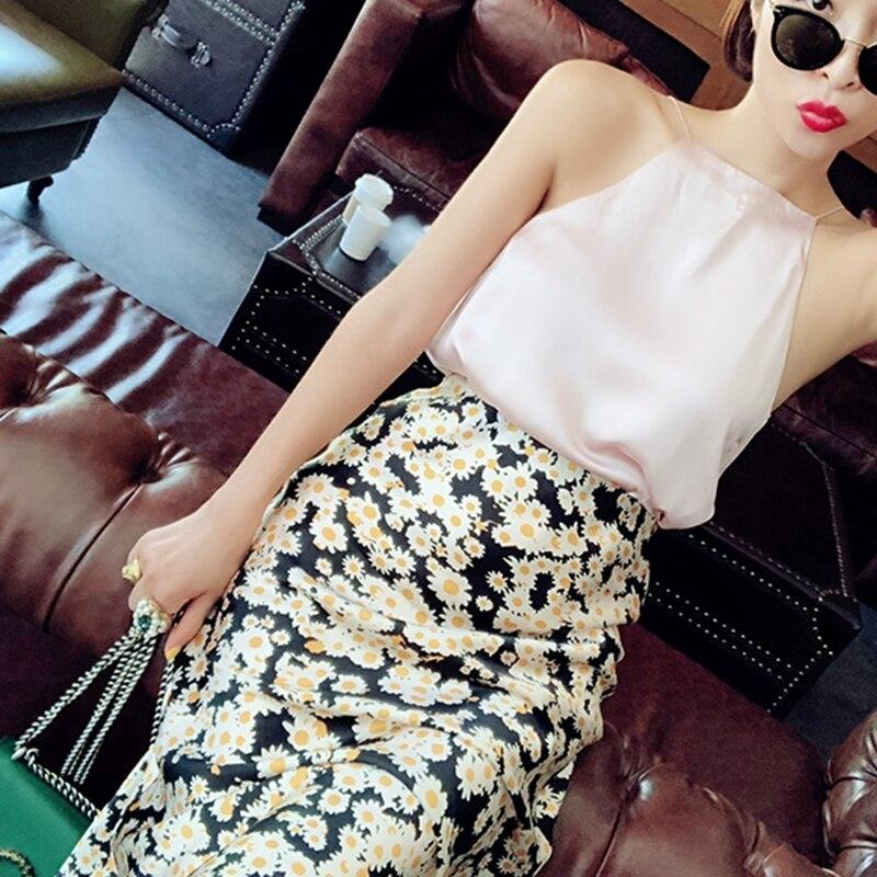 Summer 19 kawaii boho bodycon leopard print high waist skirts womens midi leopard skirt punk streetwear korean style 20