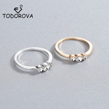 Todorova Geometric Rings for Women Wedding Rhinestone Crystal Female Finger Rings for Ladies Charm Jewelry anillos newest viennois fashion jewelry gun color geometric finger rings for woman rhinestone and crystal party accessories