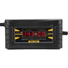 Completo Cargador Automático de Batería de Coche 110 V a 220 V 6A 12 V LCD Digital de Potencia de Carga Rápida inteligente de Plomo Ácido Seco Mojado pantalla