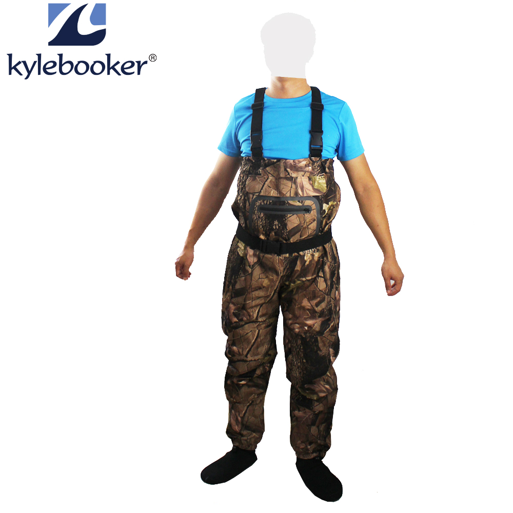 Camouflage Breathable Fly Fishing Stocking Foot Chest Waders Jumpsuits Wader Hunting wading pants Waterproof trousers Overalls thicker waterproof fishing boots pants breathable chest waders wading farming overalls cleaning siamese bust clothes