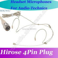 MICWL T70 Omni Directivity Comfortable ear Hook Headset Microphone for Audio-Technica Wireless Hirose 4Pin connector