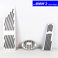 Car Aluminium Alloy Petrol Clutch Fuel Brake Braking Pad Foot Pedals Rest Plate for BMW 2 Series Wagon Pedals Auto with M Logo