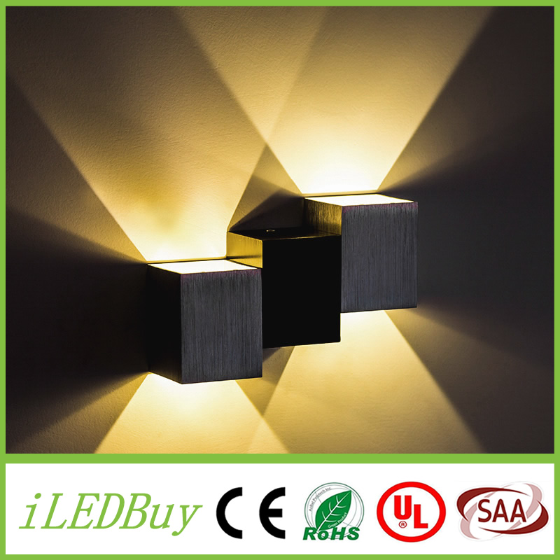 Cube Adjule Surface Mounted Outdoor Led Lighting Wall Light Up Down Lamp In Indoor Lamps From Lights On
