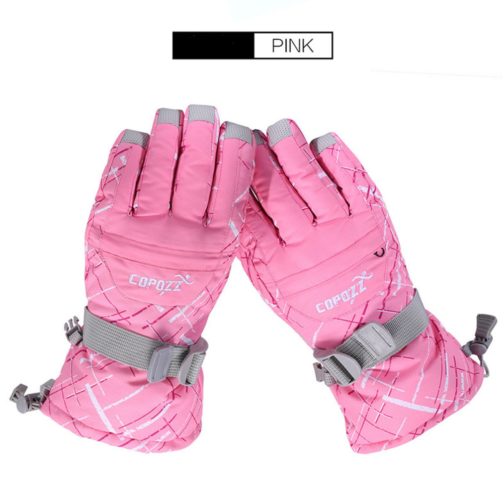 Motorcycle gloves pink - Copozz Brand Men Skiing Glove Tpu Bag Waterproof Motorcycle Winter Snowmobile Snowboard Ski Gloves Warm Ride