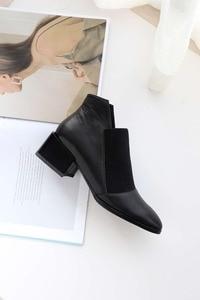 Image 2 - Botas modelo oxford, populares, botas de couro genuíno, macio, clássico, bota cano curto l83
