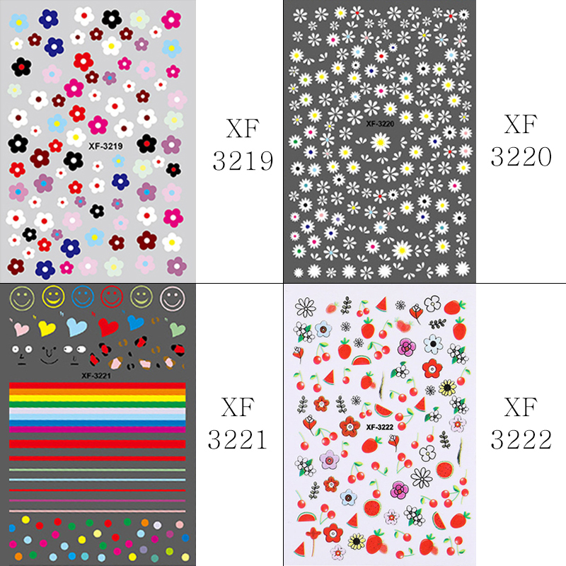 Nail Sticker Kim Hyun A Style Nail Decal Flower Strawberry Egg Spring and Summer Design Stickers Press on Nails Manicure (9)
