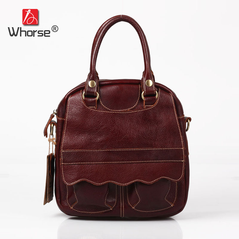 Handmade Vintage Casual Retro Shell Bag Genuine Leather Womens Real Cowhide Designer Handbag Messenger Bags For Women W092397 top quality handmade vintage casual bag genuine leather womens real cowhide designer handbag messenger bags for women w092544