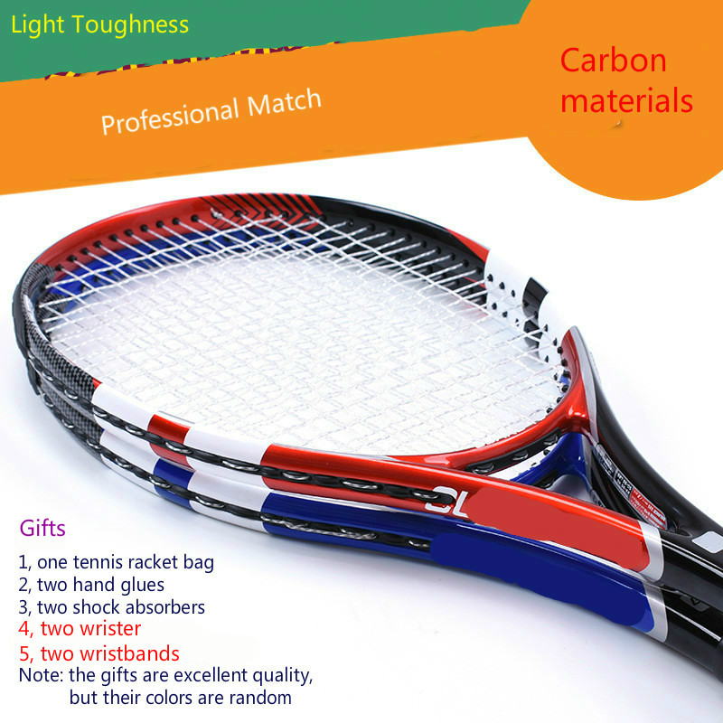 Super light carbon net racket carbon fiber tennis racket professional competition level tennis racquet Gift Racket BagSuper light carbon net racket carbon fiber tennis racket professional competition level tennis racquet Gift Racket Bag