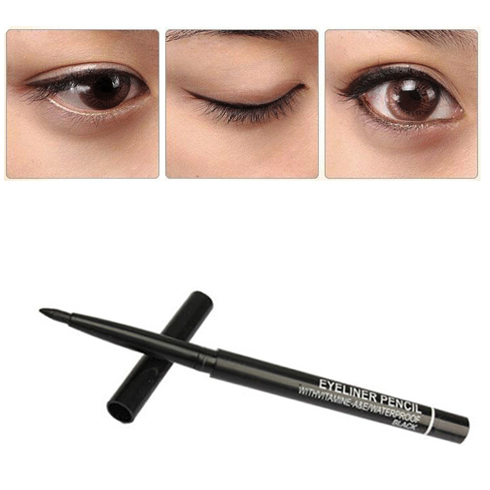 1 Piece Waterproof Rotary Gel Cream Eye Liner Black Eyeliner Pen Makeup Cosmetic1 Piece Waterproof Rotary Gel Cream Eye Liner Black Eyeliner Pen Makeup Cosmetic