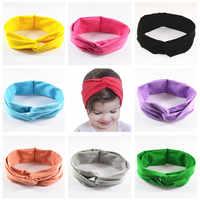 30 ชิ้น/ล็อต 12 สี U Pick 2 นิ้ว Top Knot ผ้าฝ้าย Headbands Headbands เด็ก Boutique Twisted Elastic ห่อผม FDA119