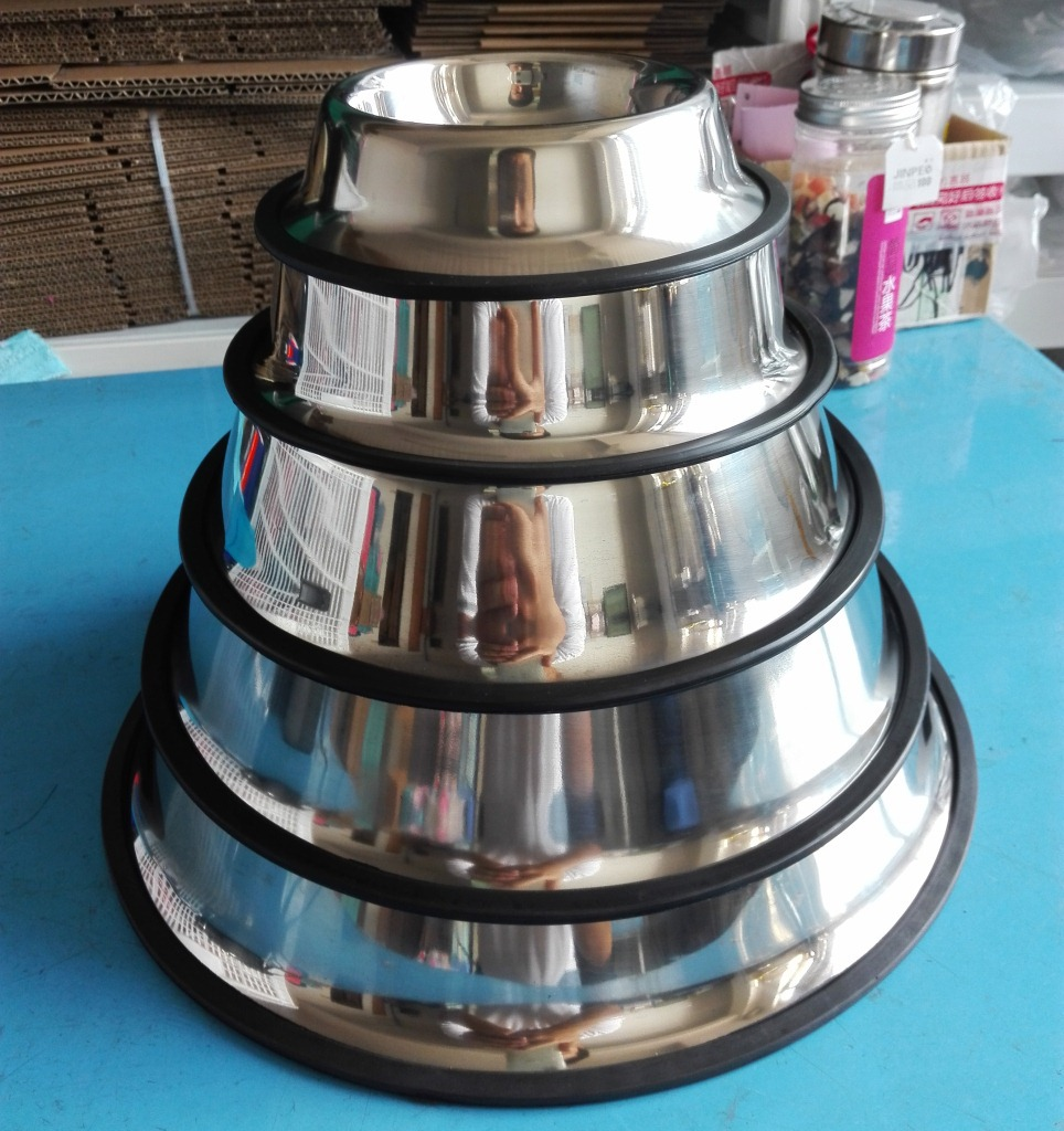 pet portable dog bowls wholesale for food dog drinking water bowl Stainless Steel Dog Feeding Bowl Cat Puppy Water Dish