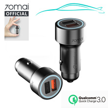 70mai Quick Charge QC3.0 Fast car Charger For Samsung Dual USB quick Car charge Connector Phone Chargers Iphone 7 8plus X XS