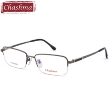 Chashma Gentlemen Pure Titanium Lentes Opticos Gafas Top Quality Frames Super Light  Men Black Semi Rim Eyeglasses