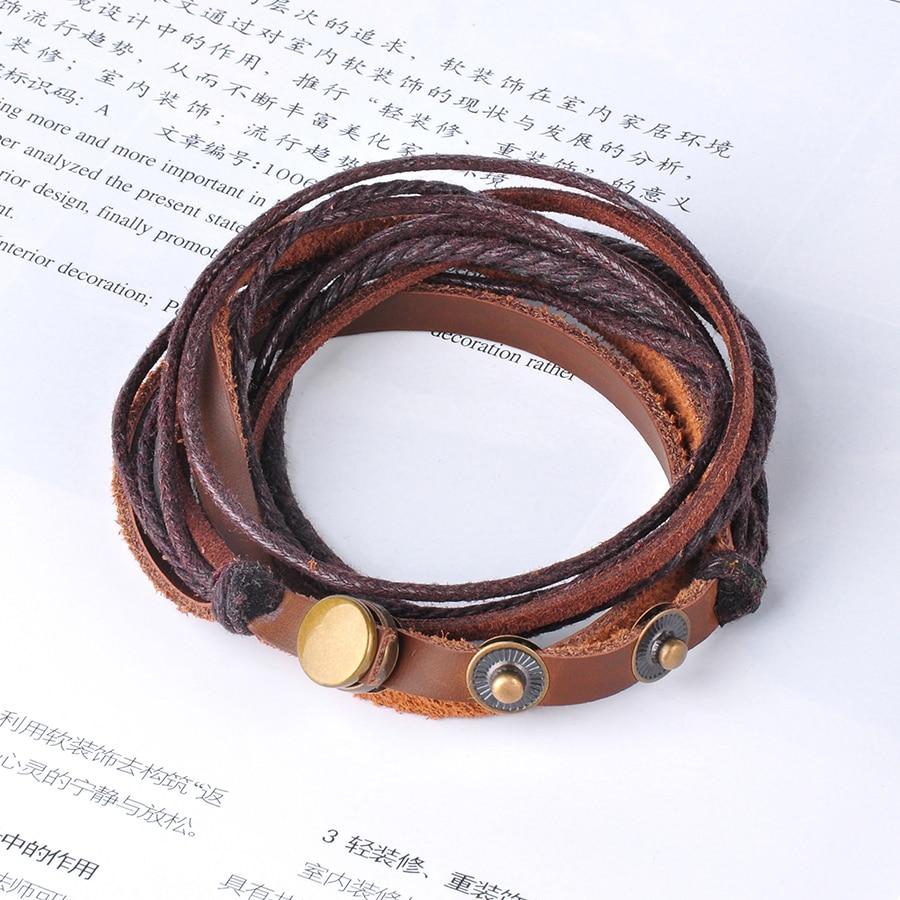 Kožené Snap Button Wrap Náramky Přívěsky Šperky pro ženy Muži ... ae56fa64676