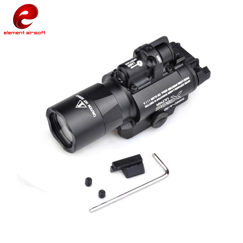 Element SF X400 CREE Ultra High Output LED Pistol M4 Rifle Flashlight Red Dot Laser Combo Sight 20mm Picatinny Rail Mount EX367 hunting combo metal green dot laser sight led flashlight 200lm 3w with 20mm rail weaver picatinny for glock 17