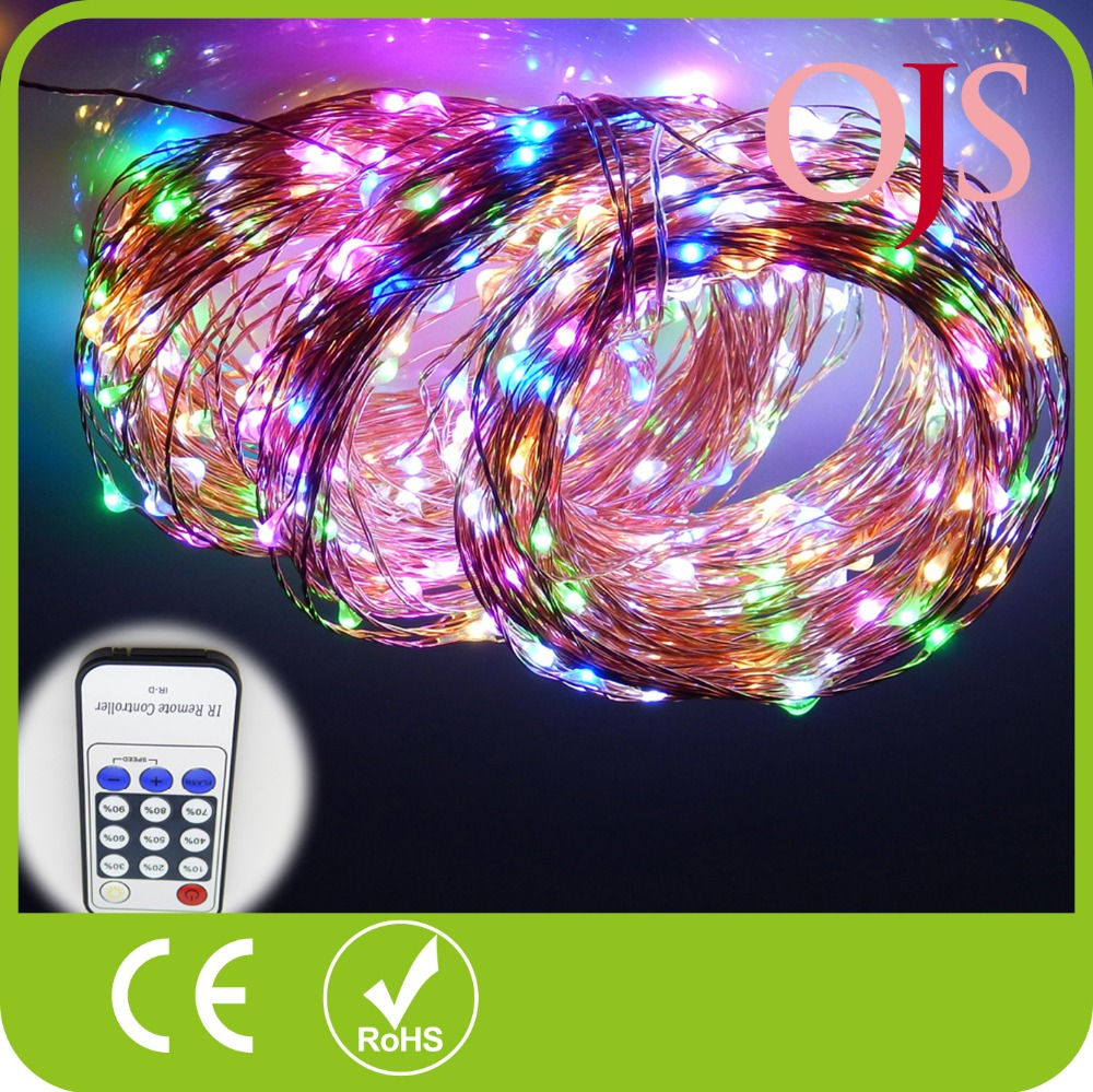 ФОТО Copper Wire LED String Lights 165Ft/50m 500 Leds 8 Colors Starry Lights Christmas Fairy lights 12V Power Adapter Remote Control
