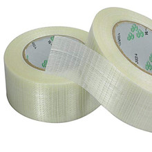 1PCS / volumes high strength transparent grid type, glass fiber reinforced plastic waterproof and wear-resistant adhesive tape(China)
