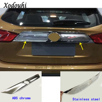 ABS chrome/stainless steel Rear door License tailgate bumper frame plate trim lamp trunk For Nissan Qashqai 2016 2017