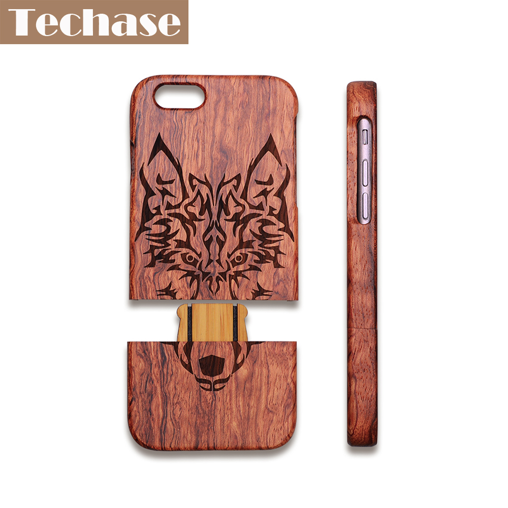 Techase Wooden Phone Case 4.7 Inches For iPhone 7 Case Laser Engraving 5.5 Inches Case For Iphone 5/5s/se/6/6plus/7