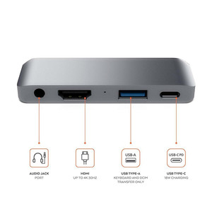 Image 3 - USB C HUB Için iPad Pro 2018 Tipi C Ses Adaptörü Cep Pro Hub ile USB C PD Şarj 4 K HDMI USB 3.0 3.5mm Kulaklık Jack