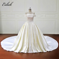 Ball Gown Vestido De Novia Off The Shoulder Beautiful Draped Wedding Gown Chapel Bridal Dress Special
