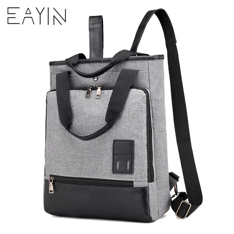 EAYIN Fashion Men Backpack Korean style Shoulder Bags Nylon Bag Backpack  Female Men Notebook Backpacks mochilas 3cb139cf6e141