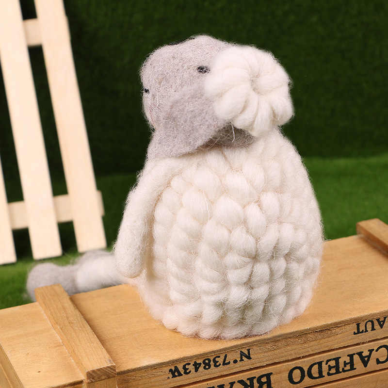 Śliczne Anime z wełny owiec jagnięcina dla dzieci zabawki pluszowe lalki Kawaii miękkie nadziewane pluszowa zabawka na prezent