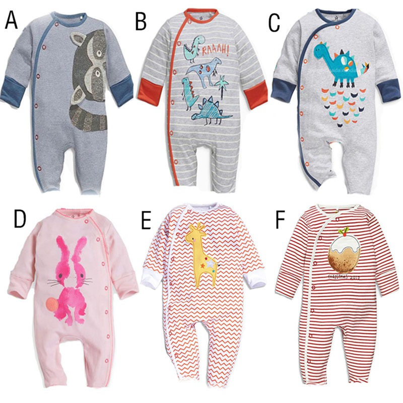 spring autumn baby clothes newborn long sleeve siamese folding hat cartoon pattern cute baby boy
