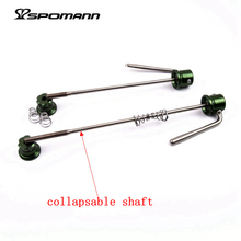 50g/pair ultra-light titanium alloy quick release skewers front 105 rear 145-150mm mountain bike/ road bicycle wheels QR Parts