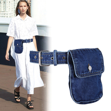 все цены на 2019 Waist Bag Women Fanny Pack Waist Belt Bag Fashion Adjustable Denim Belt Female Waist Pack Phone Pouch Bum Bags Hip Pack