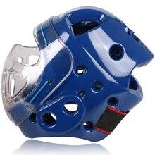 Wtf шлемы каратэ тхэквондо взрослые уборы головные защитный шлем поддержка фитнес