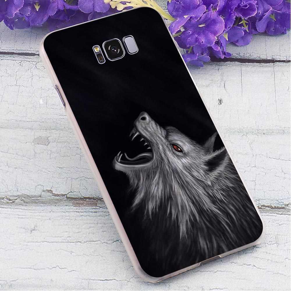 الذئب غطاء واقٍ مزخرف لهاتف آيفون ل SamsungGalaxy A70 للصدمات الهاتف غطاء لسامسونج غالاكسي A7 A8 زائد A9 A10 A30 حالات الجلد