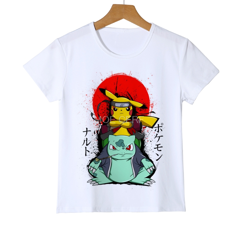 Summer Boys/Girls/Kids/Baby Pokemon Shirt Cartoon Printing Clothes Girls T-shirt Short Sleeves Top Tees Children's Clothes Z18-1 men s slimming collarless bus printing short sleeves