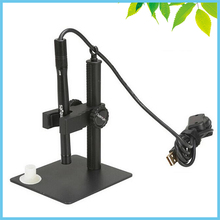 Best Buy LED Illumination 2 MP Digital Microscope 500X USB Industrial Measuring Microscope Medical Electronic Endoscope with Stand Mount