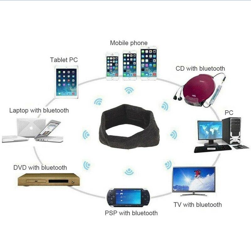 Bluetooth Sports Headband Hifi Headphones Wireless Earphone Stereo Headset Sleep Eye Mask Player With Mic 3