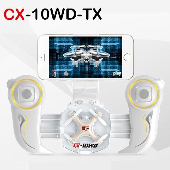 Cheerson CX-10WD-TX Mini Wifi FPV With High Hold Mode 0.3MP Camera 2.4G 6-axis Remote Controller Mode RC Quadcopter RTF