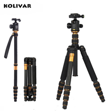 KOLIVAR Q666C Professional Photography Carbon Fiber Tripod to Monopod with Ball Head Traveling Camera Stand For