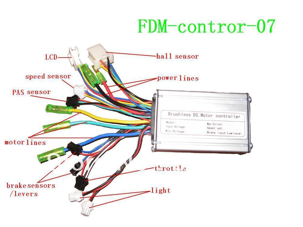 Electric Bike Sine Wave Controller with Hall SensorLCD