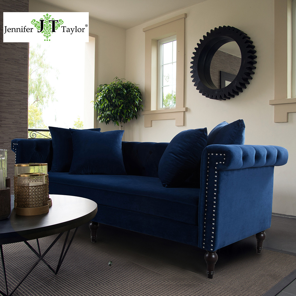 Jennifer Taylor Jasmine Estate Blue Sofa 90 W X 36 D 30 1 2 H