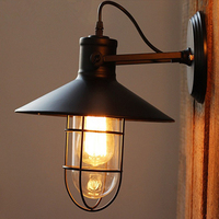 Antique Attic Antique Wall Lamps Edison Retro Tube Wall Decorative Lamps with Glass Cover Lighting Fixtures