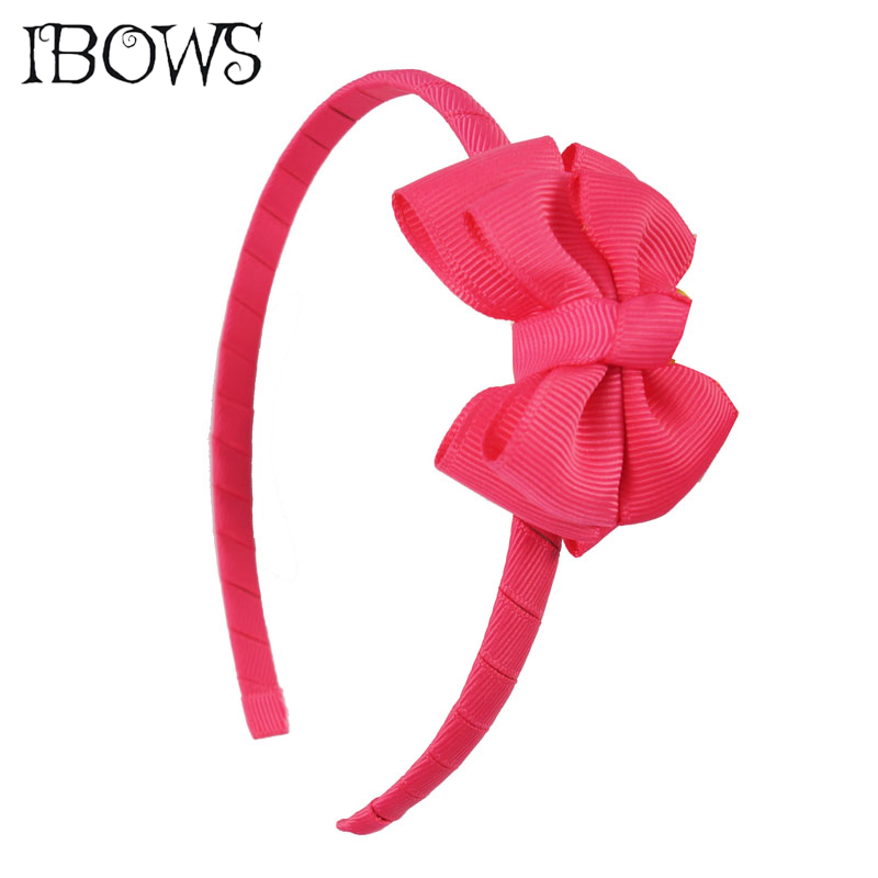 Boutique Cute Double Layer Hairband Mini Bow Headband Hair Hoops Ribbon Hair Bow Hair Bands For Children Hair Accessories popular in europe and america children wear hair knotted cotton big bow tie children hair baby hair headband