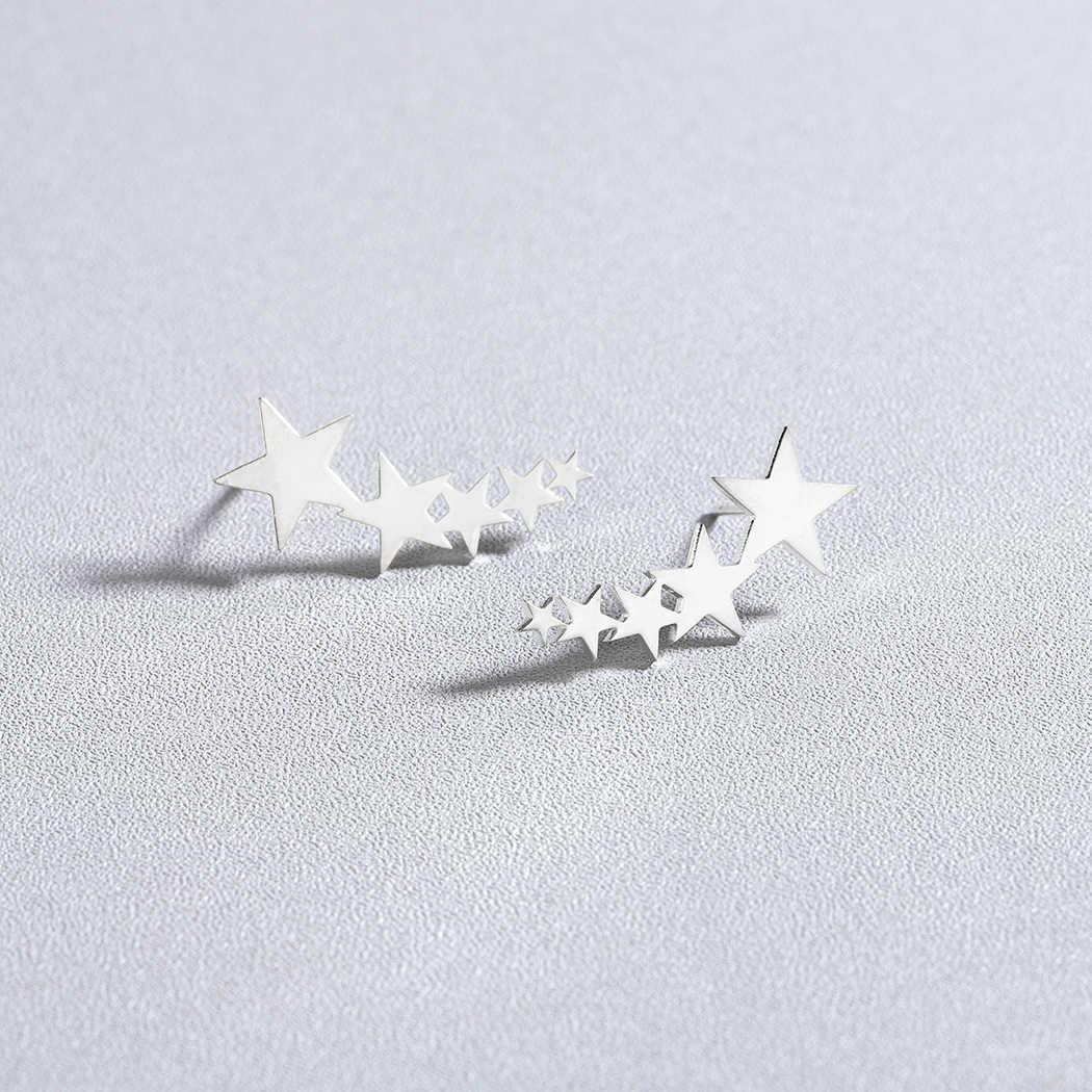 Cxwind แฟชั่น Stackable Star ต่างหูผู้หญิงหู Climber ต่างหูเครื่องประดับวันวาเลนไทน์ของขวัญ Brincos de