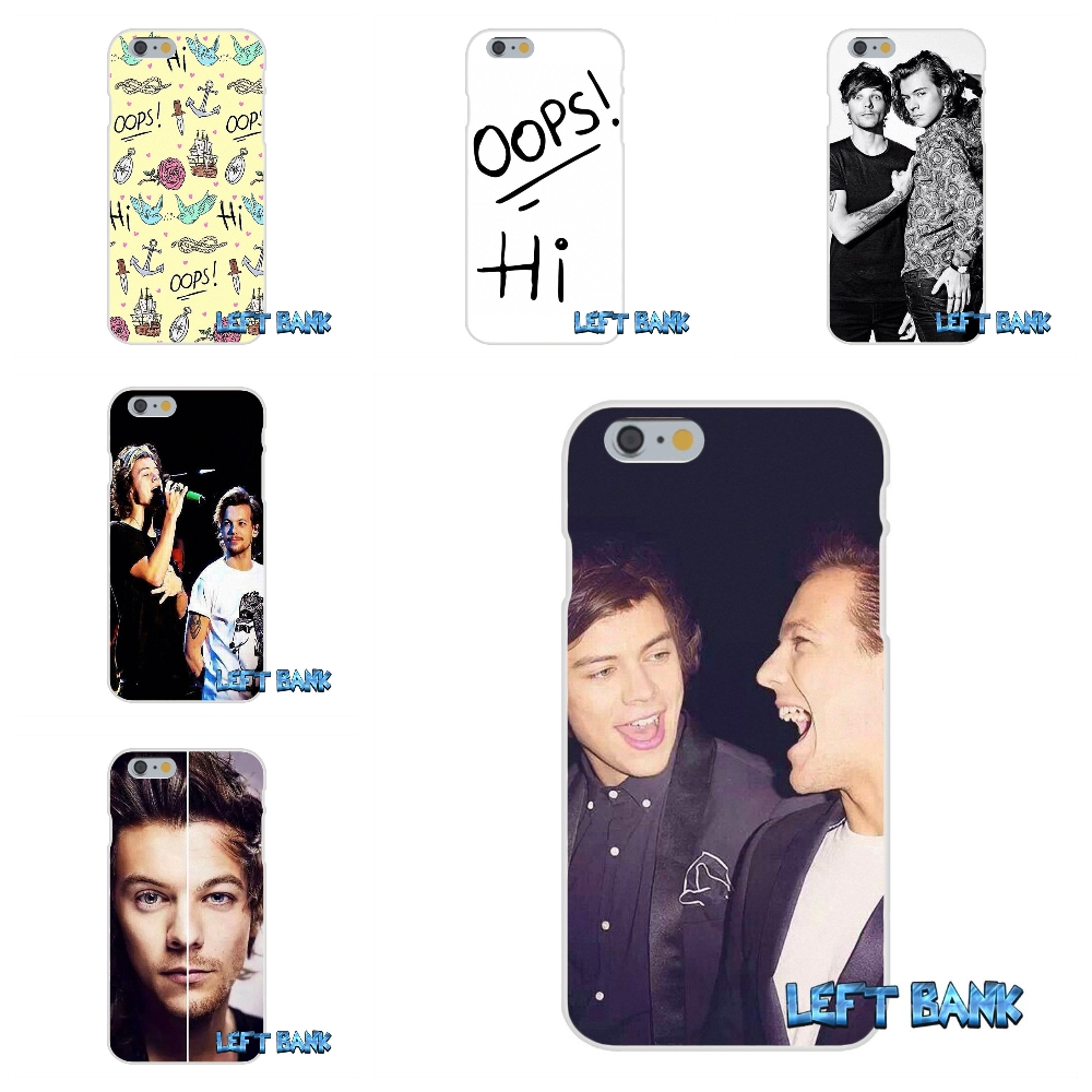 Larry Stylinson Soft Silicone TPU Transparent Cover Case For iPhone 4 4S 5 5S 5C SE 6 6S 7 Plus