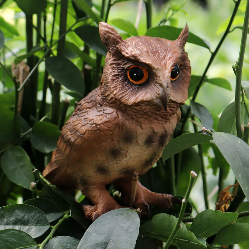 ZXZ Hand Painted PVC Simulation Big Owl Action Figure Animal Model Bird Figurine Home Garden Decoration Miniature Collection ToyAction & Toy Figures